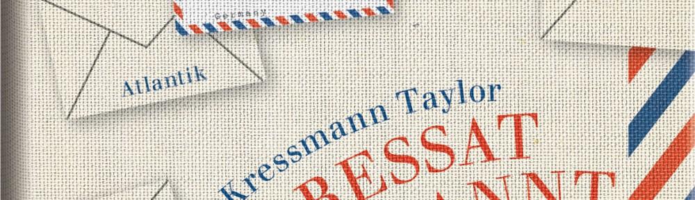 Rezension | Kressmann Taylor: Adressat unbekannt